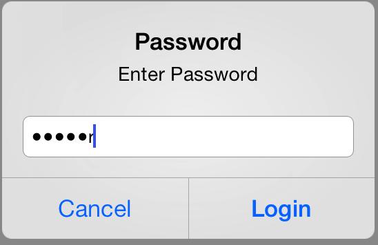 UIAlertView Example with Password