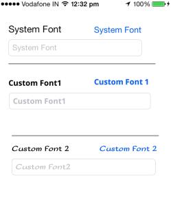Add Custom Font in iOS