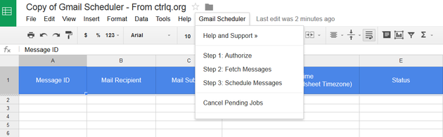Authorize Schedule Emails in Gmail