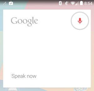 OK Google Speak Now