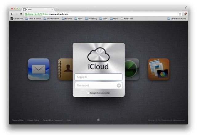 iCLoud website