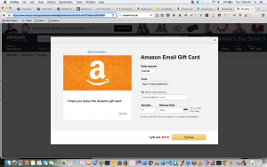 XSS Bug in Amazon Gift Card ceation